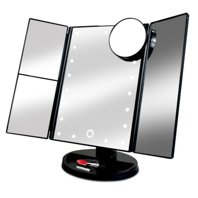 Tri Fold LED Make Up Mirror