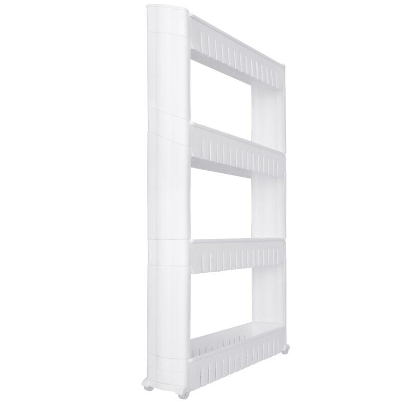 Slimline 4 Tier Kitchen or Bathroom Storage Shelf Organiser