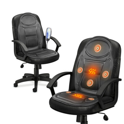 Electric Heated Back & Seat Massager Chair Cushion