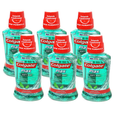 Pack of 6 Colgate Plax 250ml Soft Mint Mouth Wash