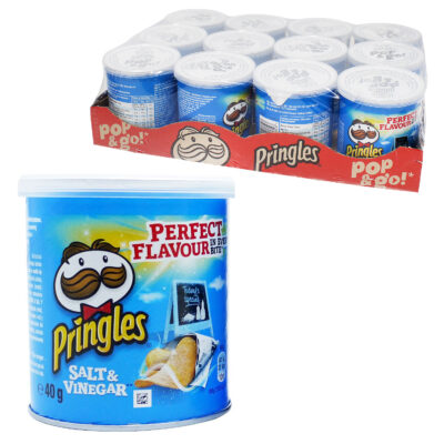 24 Packs 40g Salt & Vinegar Pringles
