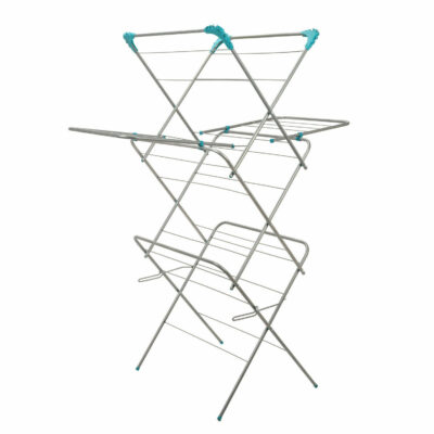 3 Arm Folding Clothes Airer With Wings
