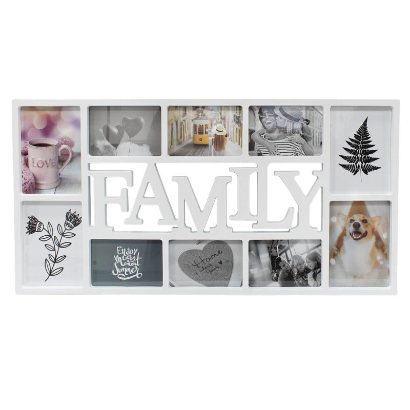 White 10 Photo Family Frame