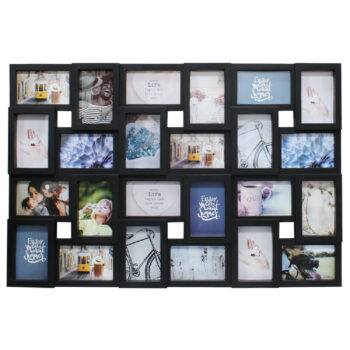 Black 24 Picture Photo Frame