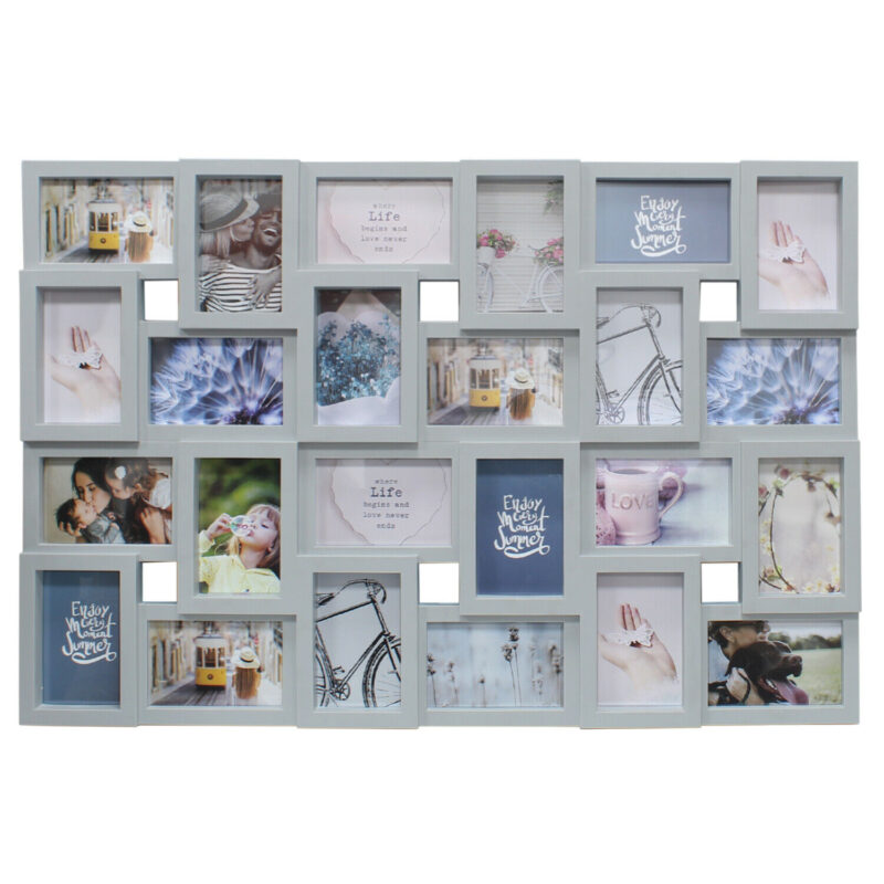 Grey 24 Picture Photo Frame