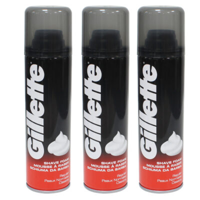 Set of 3 Gillette Regular Shaving Foam