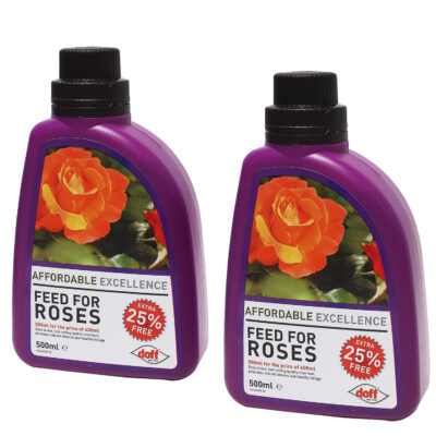 Set of 2 Doff Feed For Roses