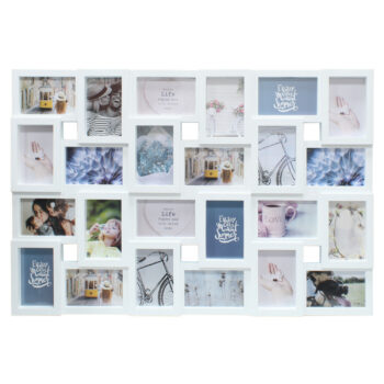 White 24 Picture Photo Frame