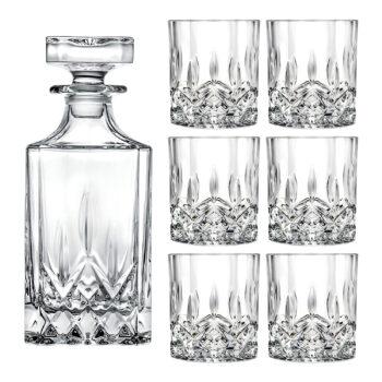 7 Piece Whisky Decanter Set