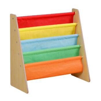 Multi Coloured Kids Wooden Bookshelf