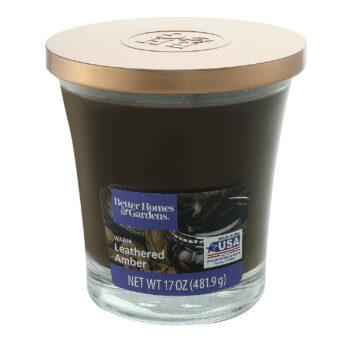 Leathered Amber Jar Candle